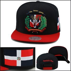 Exclusive DOMINICAN REPUBLIC FLAG SNAPBACK HAT BY MITCHELL /& NESS RED DR