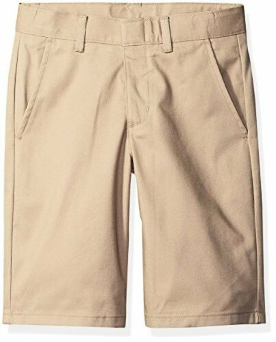 Nautica Childrens Apparel Big Boys Uniform Flat Front Twill Short