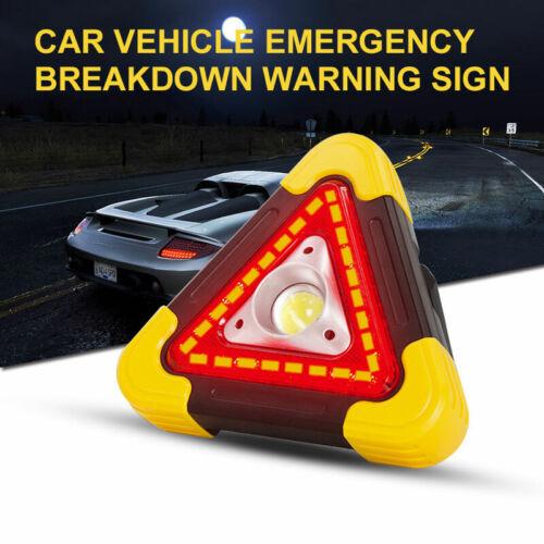 Car Triangle Emergency Hazard Warning Light Flashing LED Lamp Sign Road Roadside