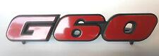 "VW original Golf II ""G60"" Schriftzug rot Emblem 16V VR6 vorne Kühlergrill NEU"