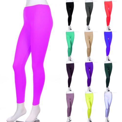 Lot Femme Noir Métallique Argent Or Humide Long Leggings Shiny Glitter Sparkle