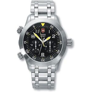 Victorinox swiss army 24043 air boss mach 3 watch 1 10th second chronograph for Bulltoro watches