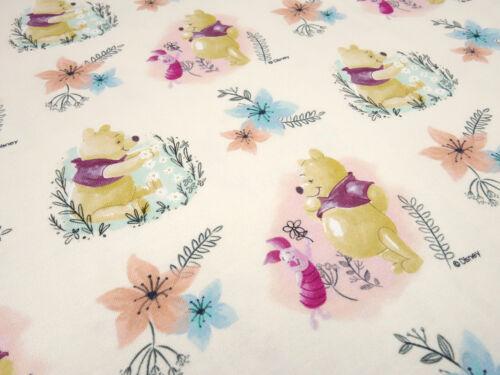 Tissu Coton Jersey Winnie Pooh /& Friends porcelets beige Disney Enfants Tissu