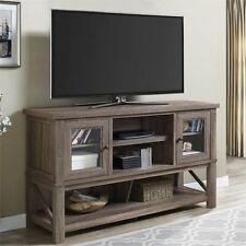 Altra Everett 70'' TV Stand with Glass Doors in Sonoma Oak