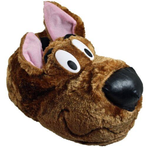 Mens scarpe Divertente Brown Kids inverno Novelty accogliente Scooby Dog pantofole casa Warm rwrRzxYS