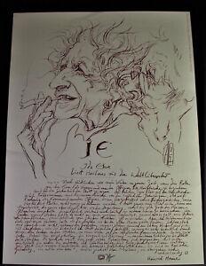 Horst JANSSEN (1929-1995) - Plakat IDA EHRE 1982 - signiert