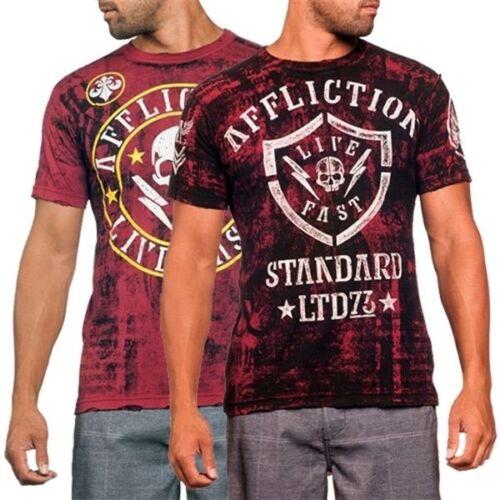Affliction Divio Shockwave Mens Reversible T-Shirt Size L New SHIPS FREE
