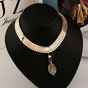 Fashion-Crystal-Metal-Collar-Chain-Women-Pendant-Necklace-Bib-Choker-Jewelry-New