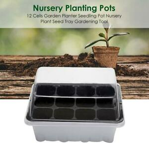 12-Cells-Garden-Planter-Seedling-Pot-Nursery-Plant-Seed-Tray-Gardening-Tool-BEST