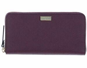 NEW-Kate-Spade-Neda-Ziparound-Saffiano-Leather-Burgundy-Wallet-WLRU2669-189MSRP