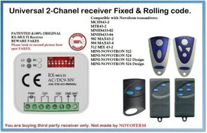Receiver BENINCA and more.. Compatible with CAME BFT RX-Multi Universal 2-Ch