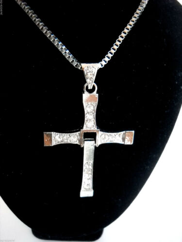 Cross Swivel Pendant Necklace Chain Stylish Mens New//Tags Fast USA Shipping!!