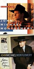 JOHN MICHAEL MONTGOMERY Lot 2 CDs--Kickin' It Up AND Letters From Home FREE S&H