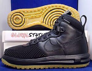 48838c3c2886 MENS NIKE LUNAR FORCE 1 DUCKBOOT BLACK GUM SHIELD SHOES 805899 003 ...