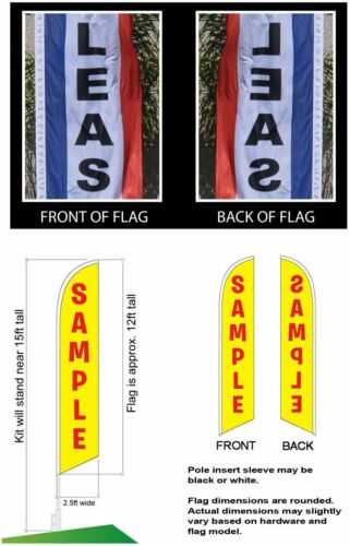 Check Cashing Advertising Feather Banner Swooper Flag Sign with Flag Pole Kit...