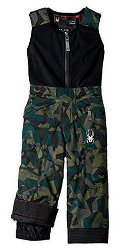 Spyder Kids Mini Expedition Bib Pants, Snow Pants, Mini Camo Guard, Size 5, NWT