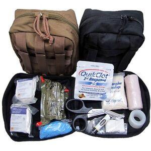 "Military IFAK ""Individual First Aid Kit"" w/ Quikclot"