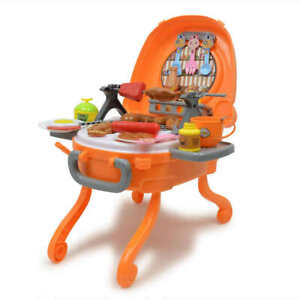 40pcs Barbecue Grill Bbq Pretend Play Toy Kitchen Play Food Set For Kids Ebay