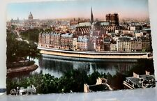 France Paris Panorama Postcard Old Vintage Card View Standard Souvenir Postal PC