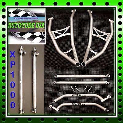 EXTREME CLEARANCE CHROMOLY A-ARMS + RADIUS BARS+HD TIE RODS RZR 4 XP 1000 SILVER