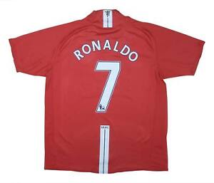 Manchester United 2007-09 Authentic Home Shirt Ronaldo #7 (eccellente) L