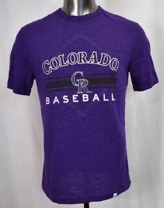 save off f3015 f2f24 Details about Majestic MLB Mens Colorado Rockies Baseball Shirt New M