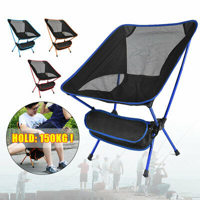 Portable Folding Chair Outdoor Seat Camping Fishing BBQ Bag With Picnic G8K5