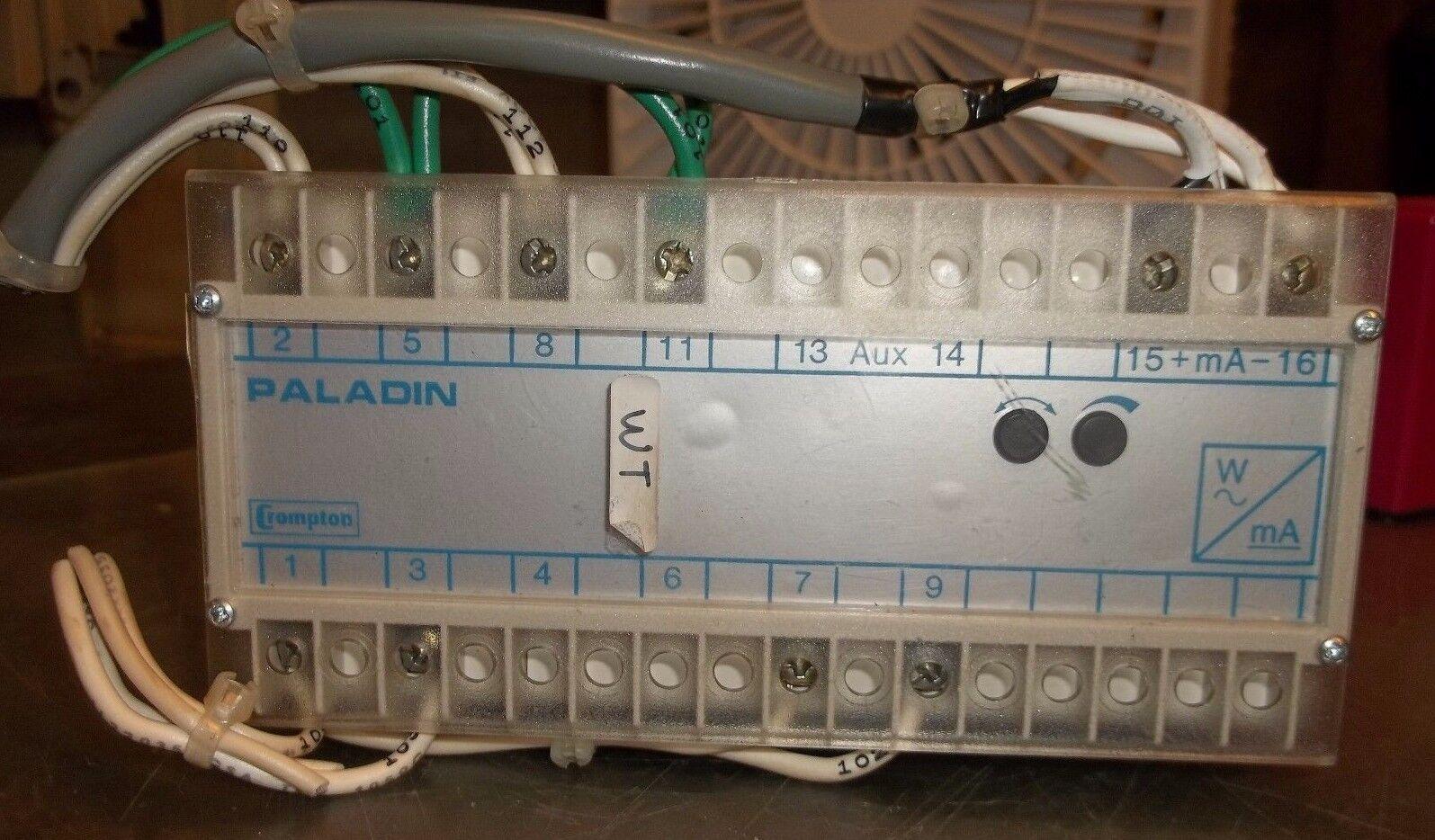 CROMPTON PALADIN 256-TWMU-QQFA TRANSDUCER MODULE 0  KW 369633-017 1MADC  (AA3)