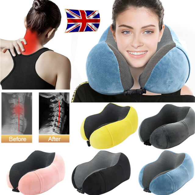 Cabeau Evolution Pillow.New Shaped Memory Foam Rebound Travel Pillow Neck Support Headrest With Bag