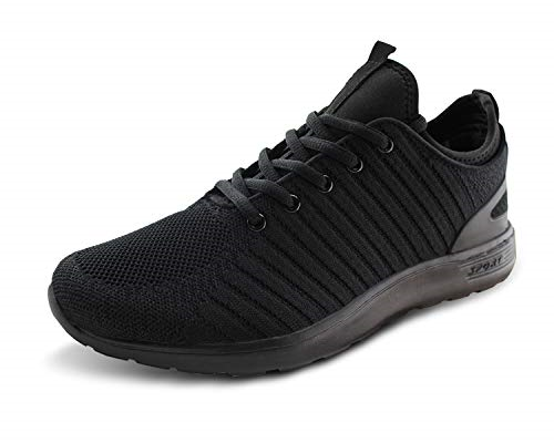 Jabasic Men Breathable Knit Running shoes Athletic Outdoor Walking Sneakers
