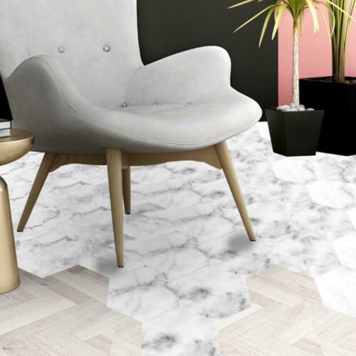 10x Waterproof Hexagon PVC Non-Slip Tile Stickers Kitchen Bathroom Floor Sticker