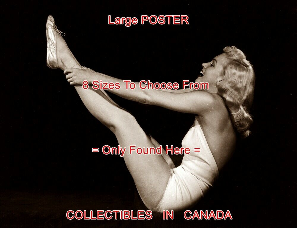 MARILYN MONROE 1950's Exercise FITNESS Bathing Suit =POSTER 8 Größes 18  - 3 FEET