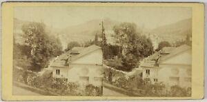Baden-Baden Germania Bord Del Reno Foto Stereo PL55L1n Vintage Albumina