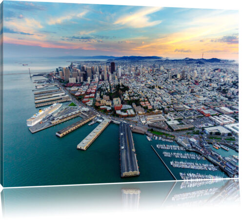 San Francisco au coucher du soleil toile déco art pression