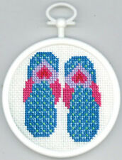Counted Cross Stitch Kit FLIP FLOPS; Christmas Ornament!  Wall-Hanging!
