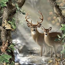 """Deer In The Forest Panel by Real Tree-Approximately 36"""" x 44""""-Male & Female"""