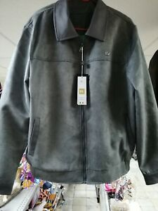 Bv Clothing Italian Leather Jacket Color Grey Xxxl Model 6732 Ebay