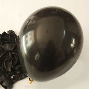 12-inch-100x-Black-Pearl-Latex-Thick-Party-Balloons-3-2g-Helium-Floating