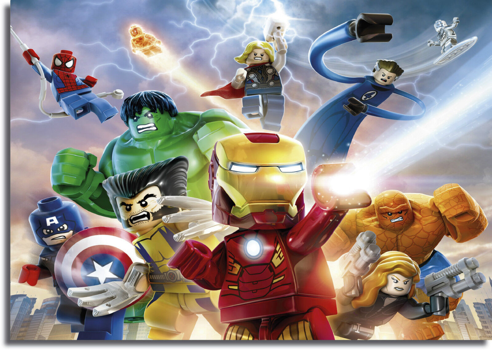 Lego Marvel Heroes Giant CANVAS PRINT  - A0 A1 A2 A3 A4 Größes
