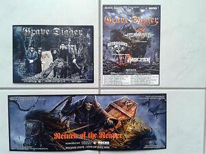 GRAVE-DIGGER-Autogrammkarte-Promo-Flyer-Accept-Sabaton-Powerwolf-Manowar