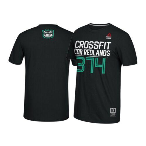 Reebok 2016 CrossFit Games CDR Redlands #374 Men/'s Black T-Shirt