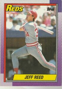 FREE-SHIPPING-MINT-1990-Topps-772-Jeff-Reed-Reds-PLUS-BONUS-CARDS