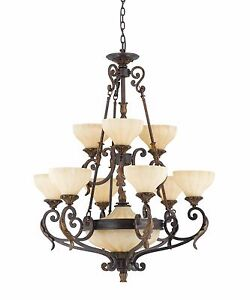 Details About Triarch 32764 Lighting Venus 11 Light English Bronze Chandelier 32 W New