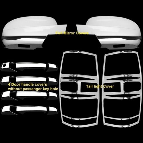 Door handles For Chevy Tahoe 07-14 Chrome Mirror Tail lights covers