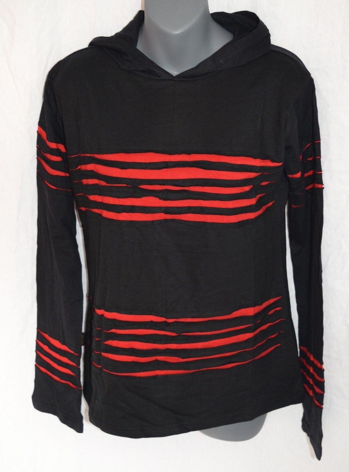 FAIR TRADE Langarm Shirt mit Kapuze_Razor Cut_ Goa, Naturmode