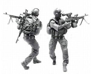 1-35-Resin-Modern-US-Soldier-Gunner-Surrounded-Unpainted-Unassembled-YF064