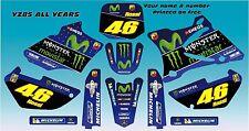 Yamaha YZ85 Movistar Rossi style kit 02 -14 FREE PERSONALISATION & UK POSTAGE