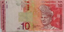 RM10 Zeti sign without security thread note DX 1005092 (minor error)