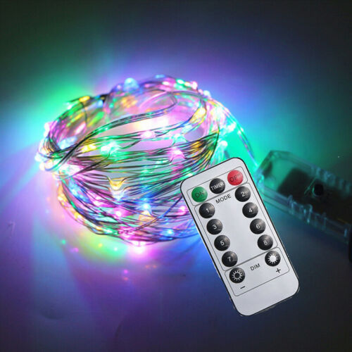 LED Battery Powered Copper Micro Fairy String Lights USB Remote 50//100//200 UK