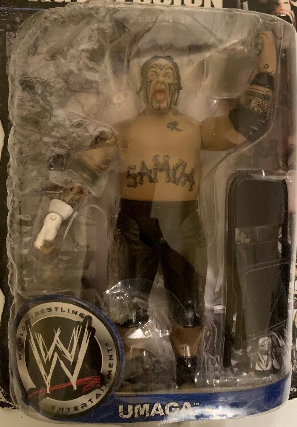 WWE WWW Ruthless Aggression Umaga New In Box wrestlemania triple h vs Umaga